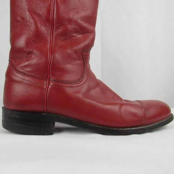 b089793a914 Justin Boots Shoes - 🇺🇸 Justin classic red kipskin roper boots 7 1 2B